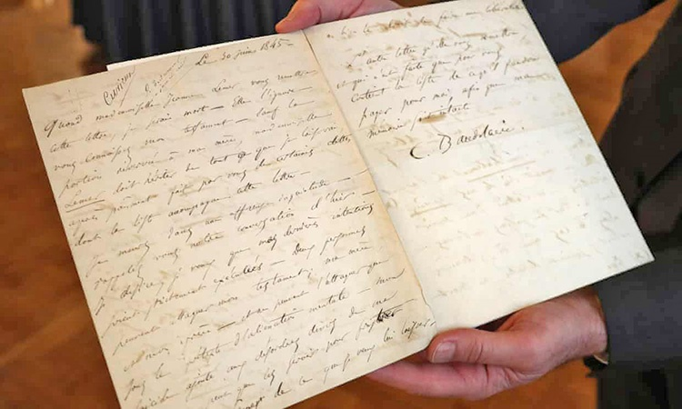 نامه خودکشی بودلر حراج شد   ۲۳۴ هزار یورو برای نامه ۱۷۳ ساله