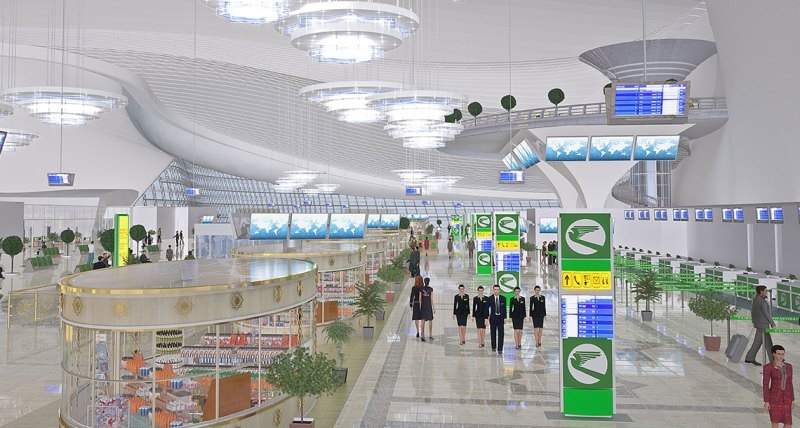 آشنایی با فرودگاه  بینالمللی عشقآباد - ترکمنستان