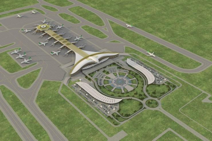 آشنایی با فرودگاه  بین المللی عشق آباد - ترکمنستان
