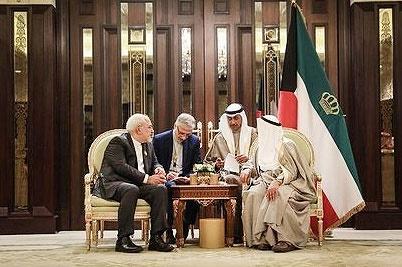 تقدیر ظریف از نقش میانجیگرایانه امیر کویت