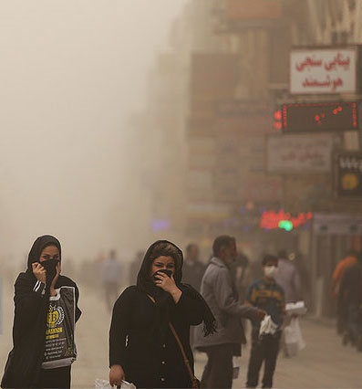 بادهای جنوبی عامل اصلی وقوع گرد و غبارها