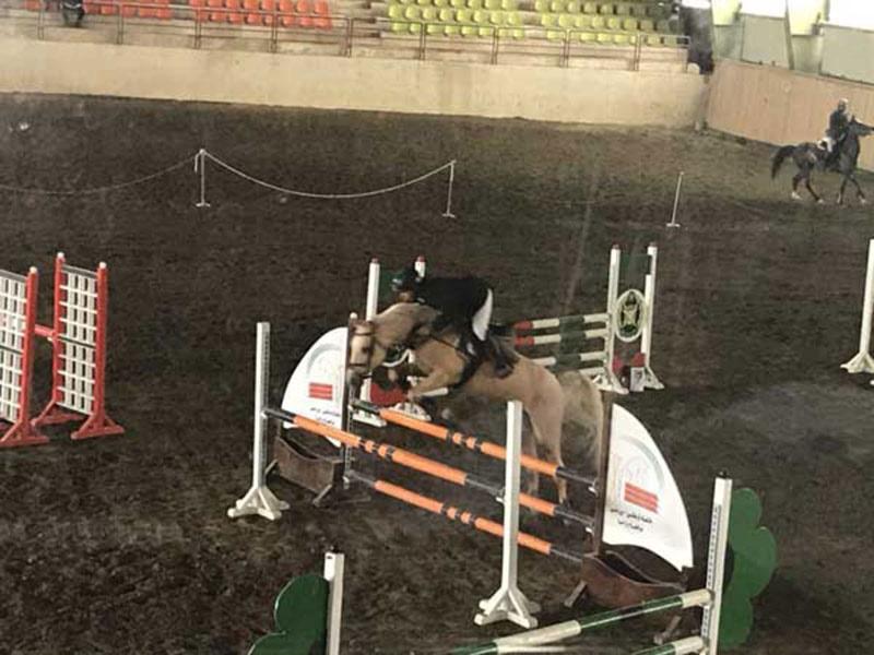 مسابقه پرش با اسب خالص ایرانی برگزار شد