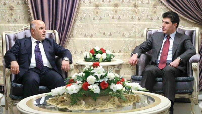 حیدر العبادی و نیچروان بارزانی در آلمان دیدار کردند