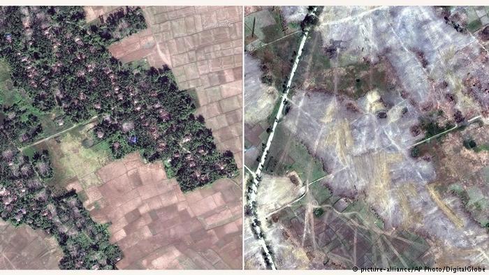 دیدهبان حقوق بشر: ارتش میانمار دهها روستای مسلمانان را نابود کرده است