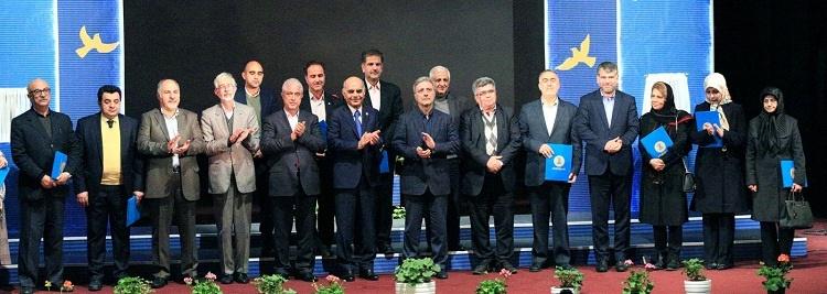 خیرین و واقفین دانشگاه تهران در یک قاب