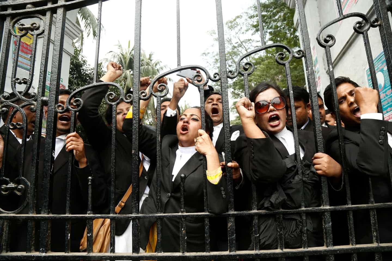 عکس روز: وکلای معترض