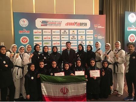 نوجوانان ایران در مسابقات تکواندوی بین المللی ترکیه ۲۴ مدال کسب کردند