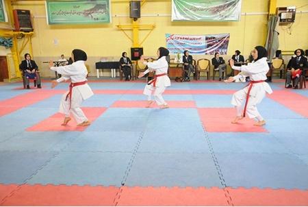 معرفی نفرات برتر کاراته کای نوجوان و امید دختران