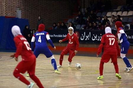 پیروزی تیم ملی فوتسال بانوان روسیه برابر ایران