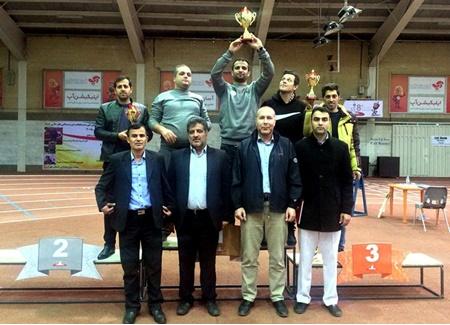 تهرانی ها بر روی سکوی قهرمانی دو و میدانی داخل سالن جوانان پسر کشور