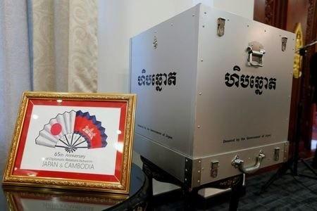 ژاپن به کامبوج صندوق رای هدیه داد