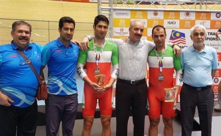 دوچرخه سواری پیست آسیا؛ مدال نقره برای تیم دونفره مدیسون ایران