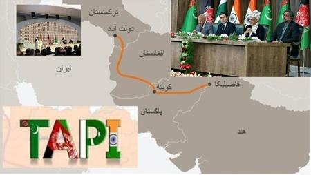 عملیات احداث قطعه دوم خط لوله گاز تاپی در افغانستان آغاز شد