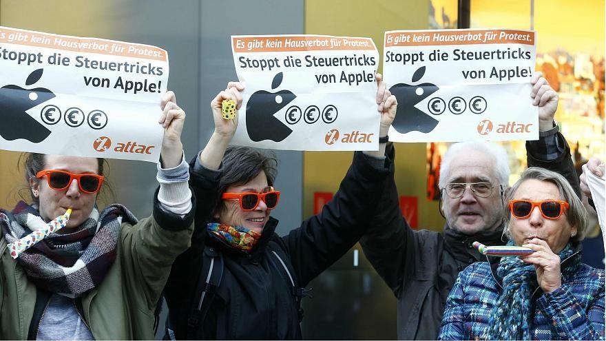 معترضان به فرار مالیاتی اپل در آلمان: مالیات بپرداز