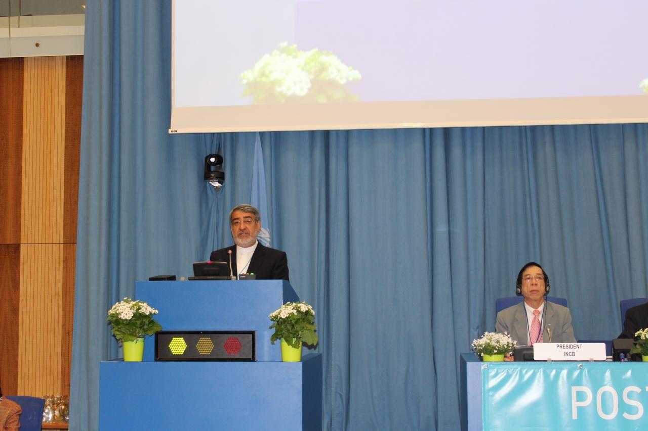 سخنان وزیر کشور در نشست کمیسیون مواد مخدر سازمان ملل در وین