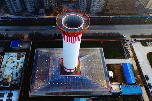 برج ۶۰ متری آلودگی را میمکد و هوای پاک تولید میکند