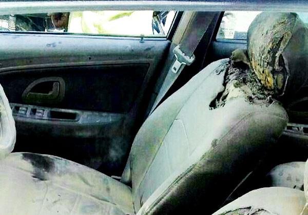 آتش زدن ماشین شهردار منوجان