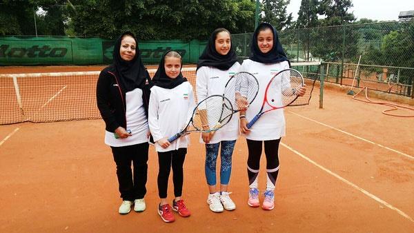 درخشش دختران نوجوان تنیس ایران در لبنان