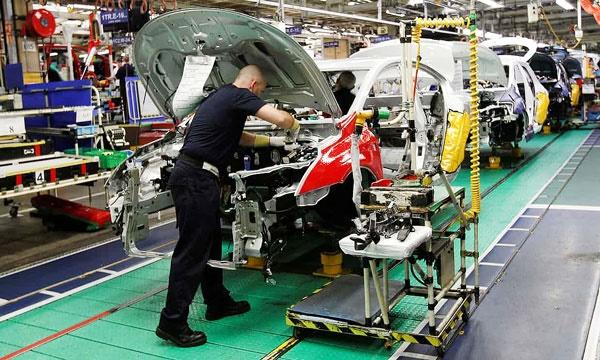ادامه روند کاهش تولید خودرو در انگلیس