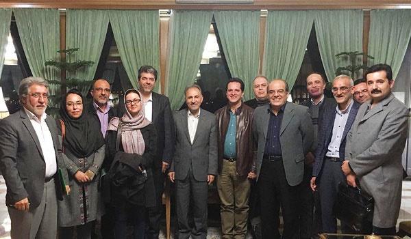 دیدار اعضای هیات مدیره و هیات موسس انجمن صنفی روزنامه نگاران استان تهران با شهردار تهران