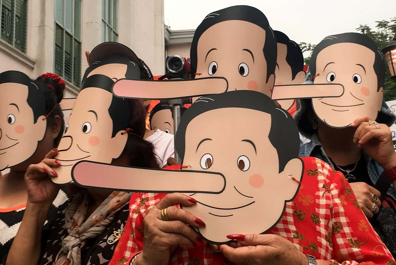 عکس روز: اعتراض به دروغ
