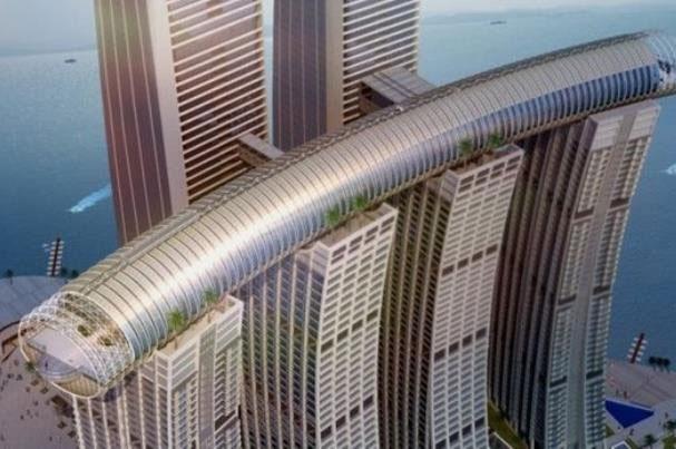 برج افقی در چین ساخته میشود