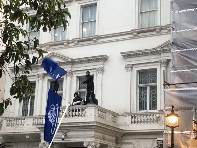 گزارش خبری از تعرض به سفارت ایران در لندن
