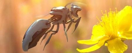 گردهافشانی با زنبورهای روباتیک زنبور