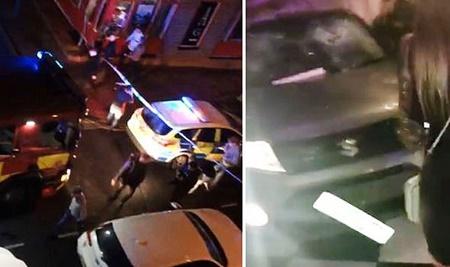 حمله یک خودرو به باشگاه شبانه در انگلیس