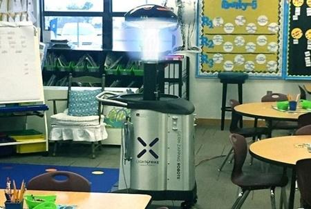 روبات مخصوص میکروب ها را در مدارس نابود می کند