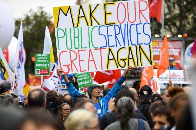 اتحادیه های بخش دولتی فرانسه خواستار اعتصاب دیگری شدند