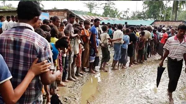 انتقال صد هزار مسلامان روهینگیا به مناطق امن در بنگلادش
