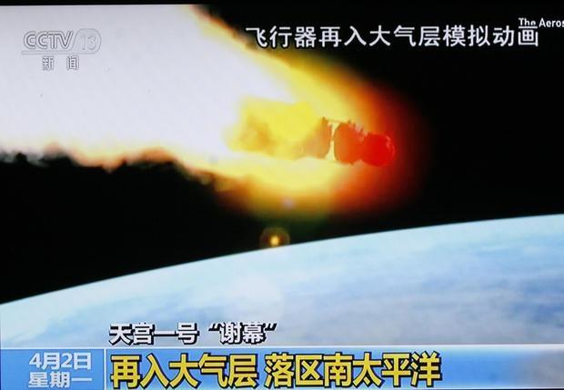اقیانوس آرام نقطه پایان ایستگاه فضایی چین