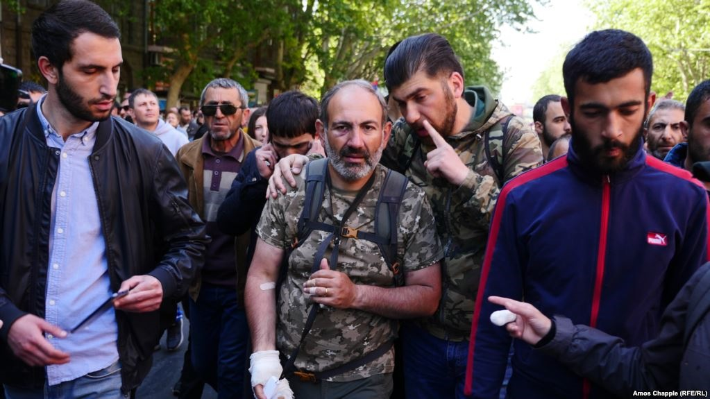 رهبر معترضان ارمنستان بازداشت شد
