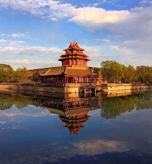 نمایی از معماری شهر ممنوعه در پکن