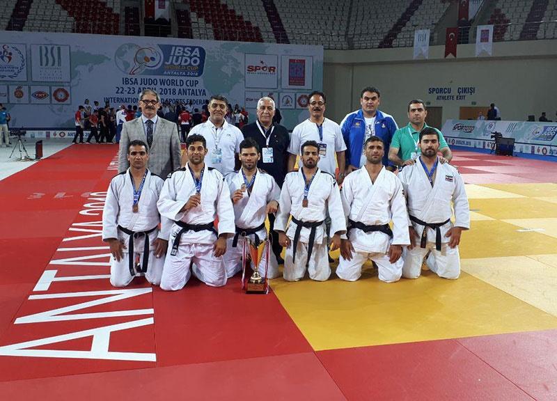 کسب جایگاه سوم تیم ملی جودوی کمبینایان در جام جهانی ترکیه