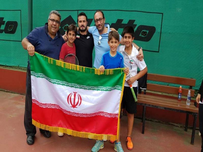 قهرمانی و نایب قهرمانی نوجوانان ایرانی در تنیس تیمی زیر ۱۲ سال غرب آسیا