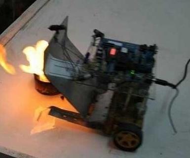 ربات آتش نشان ایرانی ساخته شد | تحمل دمای هزار درجه