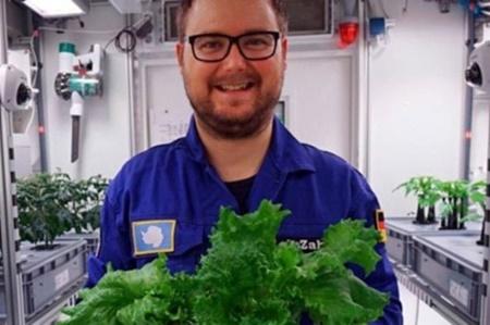 برداشت سبزیجات بدون خاک و نور در قطب جنوب