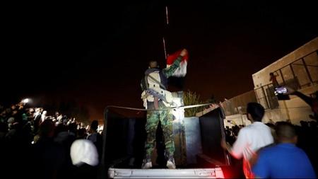 پرچم سوریه در دوما به اهتزاز درآمد