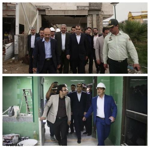 بازدید وزیر بهداشت از روند بازسازی بیمارستان سرپل ذهاب