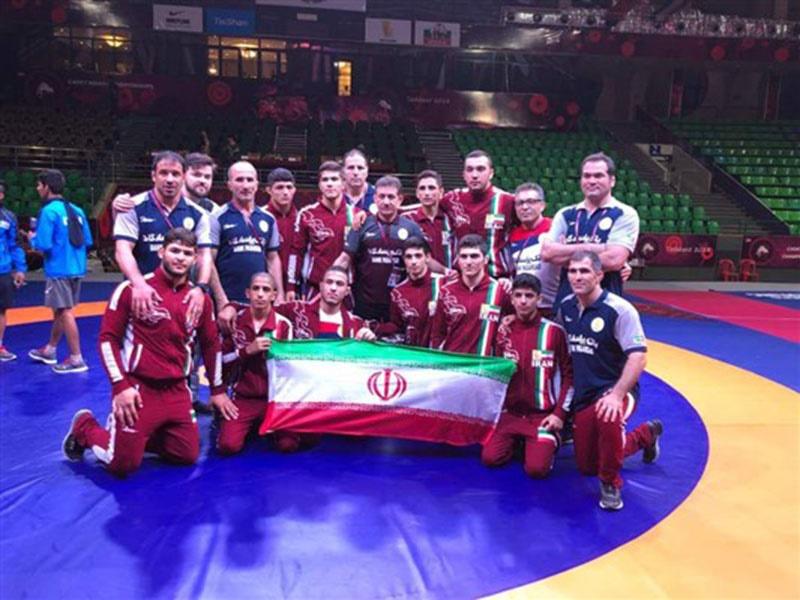 ایران با کسب ۸ مدال قهرمان کشتی آزاد نوجوانان آسیا شد