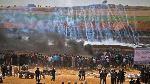 ۳۷ شهید و صدها زخمی در مرزهای غزه