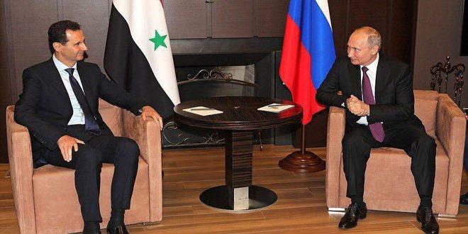 پوتین در دیدار با اسد: نیروهای خارجی باید از سوریه خارج شوند
