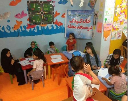 برپایی خانههای کودک قرآنی در مساجد محلات منطقه ۱۹