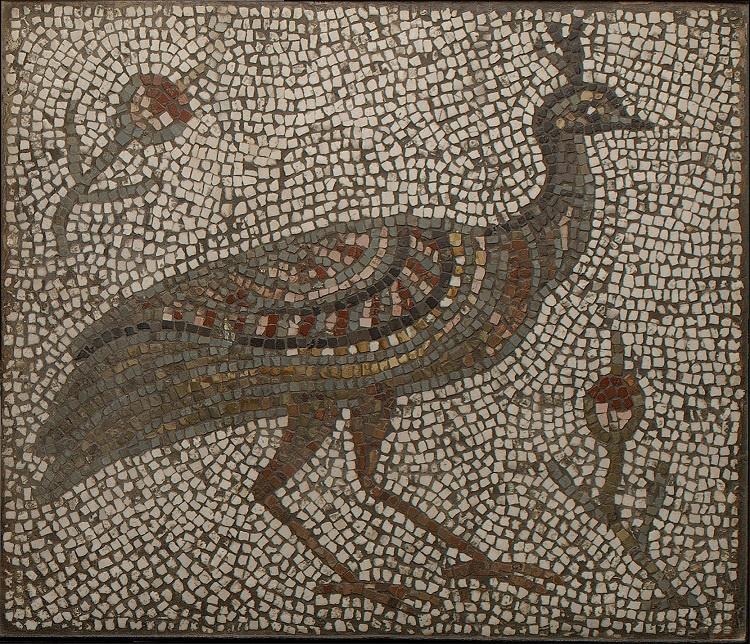 هنر بیزانسی | موزاییک طاووس | قرن سیزدهم میلادی