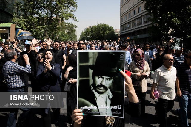 گزارش خبری از مراسم تشییع پیکر ملک مطیعی