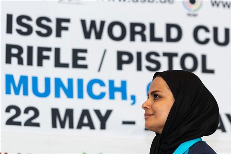 الهه احمدی قهرمان تفنگ سه وضعیت جام جهانی مونیخ شد