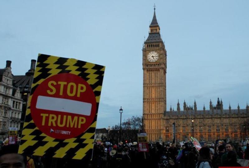 افزایش مخالفن سفر ترامپ به انگلیس | استیصال لندن از میزبانی مهمان ناخوانده آمریکایی