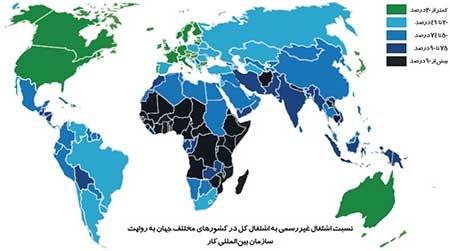 ۶۱ درصد شاغلان جهان در اقتصاد غیررسمی کار میکنند
